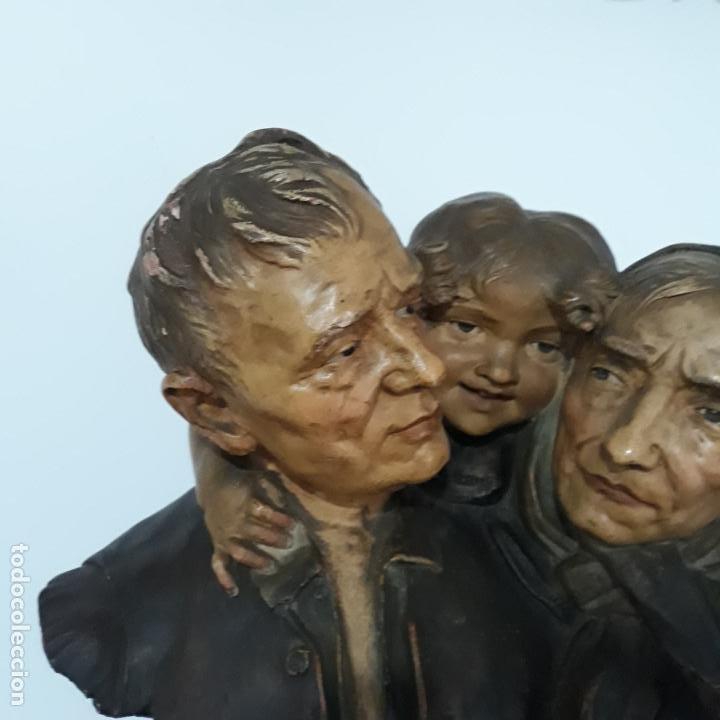 Arte: escultura en terracota policromada ,fin del xix,firmada ezio ceccarelli 1865-1927 - Foto 3 - 199875581