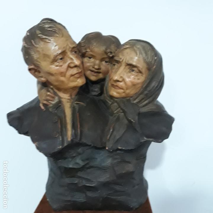 Arte: escultura en terracota policromada ,fin del xix,firmada ezio ceccarelli 1865-1927 - Foto 4 - 199875581