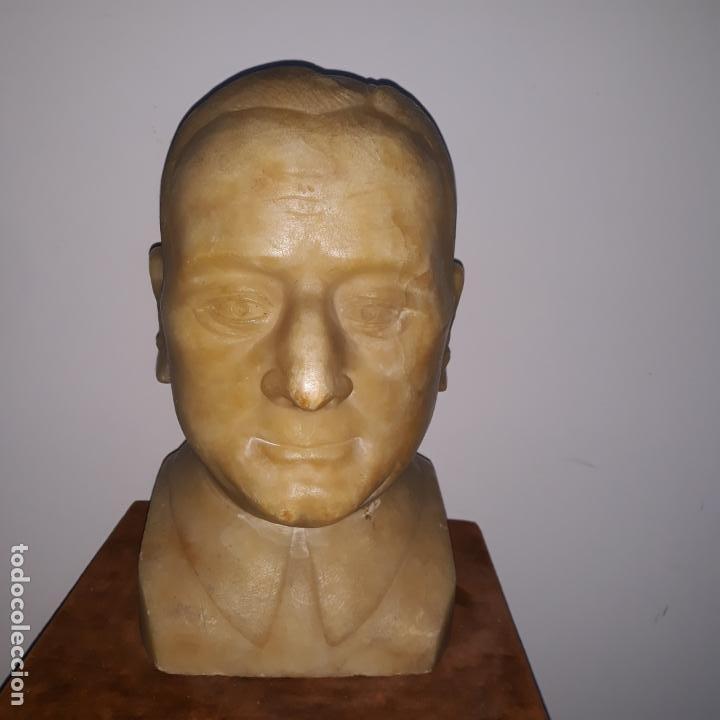 Arte: busto en alabastro trabajado,republica española,fechada en 1933,firmada j.iglesias - Foto 3 - 199951320