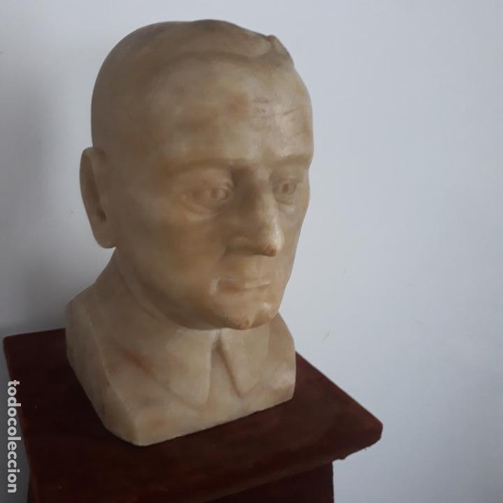 Arte: busto en alabastro trabajado,republica española,fechada en 1933,firmada j.iglesias - Foto 7 - 199951320