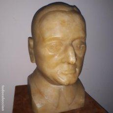 Arte: BUSTO EN ALABASTRO TRABAJADO,REPUBLICA ESPAÑOLA,FECHADA EN 1933,FIRMADA J.IGLESIAS. Lote 199951320