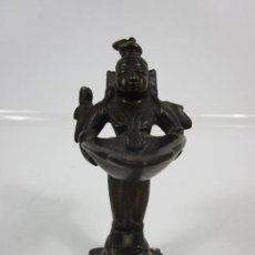 Arte: FIGURA EN BRONCE CINCELADO - ESCULTURA DIOSA - BRONCE MACIZO, PESO 358 GR. Lote 200513288