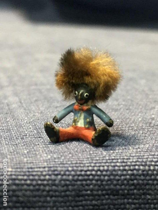Arte: pequeño bronce viena vienne wien niño negro con enorme pelo y pajarita bronze s XIX XX 15x10mm - Foto 5 - 200805268