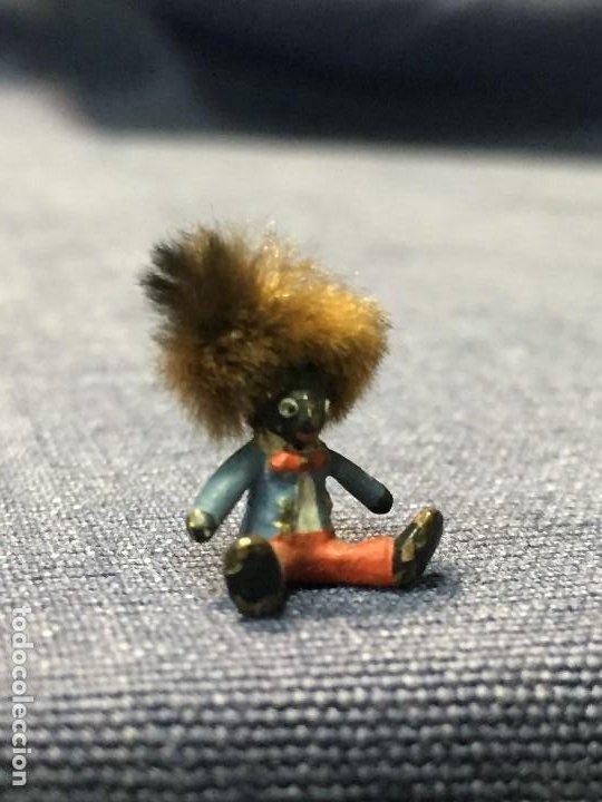 Arte: pequeño bronce viena vienne wien niño negro con enorme pelo y pajarita bronze s XIX XX 15x10mm - Foto 6 - 200805268