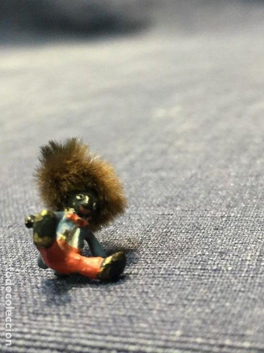 Arte: pequeño bronce viena vienne wien niño negro con enorme pelo y pajarita bronze s XIX XX 15x10mm - Foto 8 - 200805268