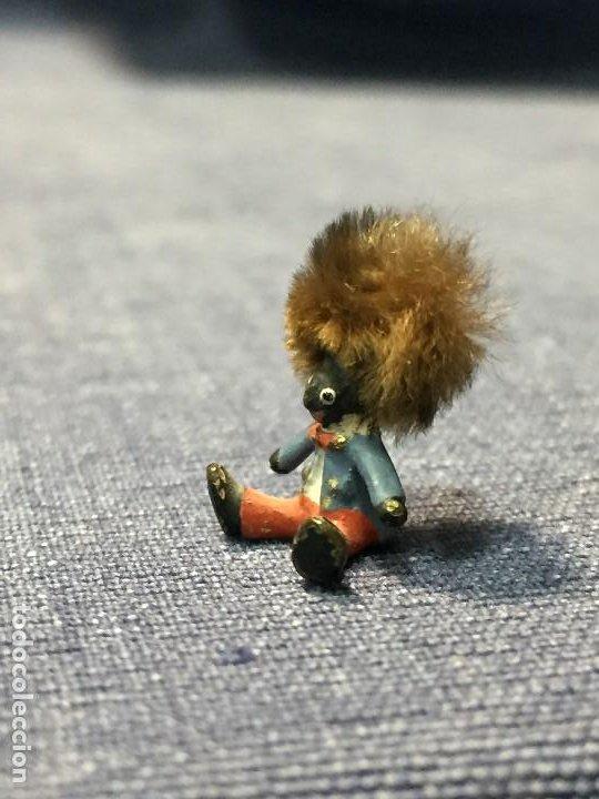 Arte: pequeño bronce viena vienne wien niño negro con enorme pelo y pajarita bronze s XIX XX 15x10mm - Foto 10 - 200805268