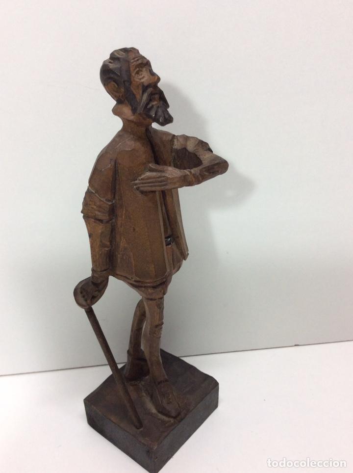 Arte: Figura madera tallada Cervantes 19x7cm base 5.tx5cm - Foto 2 - 200871683