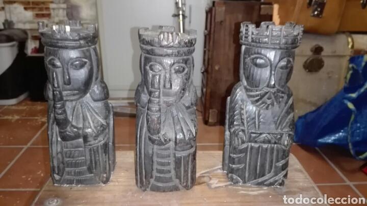 TRES SOLDADOS EN MADERA (Arte - Escultura - Madera)