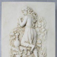 Arte: PRECIOSO RELIEVE DE ALABASTRO O SIMIL. HACIA 1900. Lote 200879538