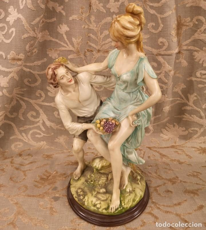 Arte: Figura, pareja escena campestre - Foto 2 - 201128385