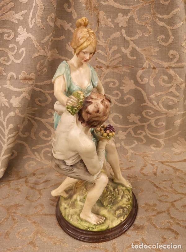 Arte: Figura, pareja escena campestre - Foto 3 - 201128385