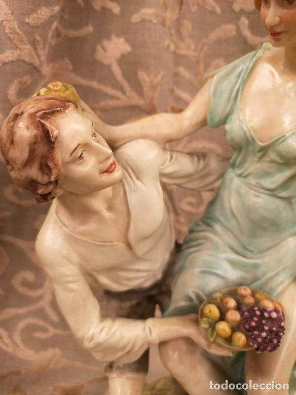Arte: Figura, pareja escena campestre - Foto 5 - 201128385