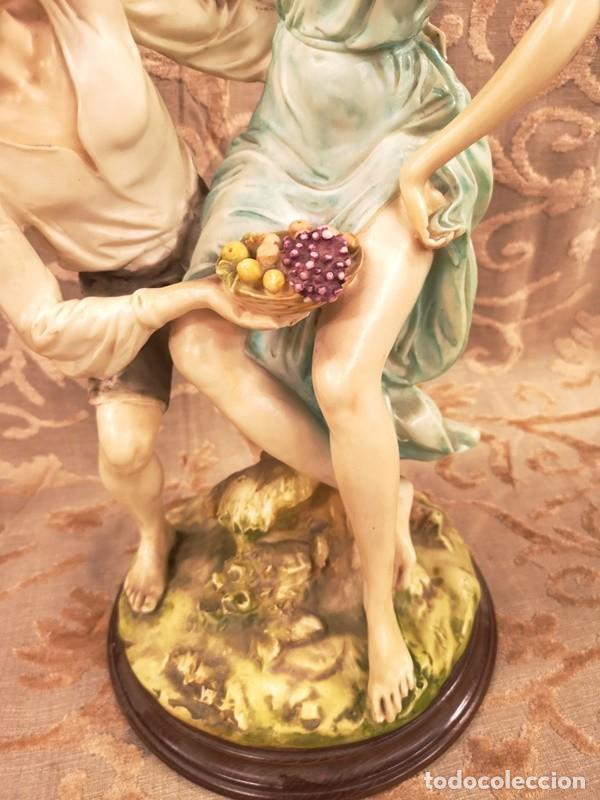 Arte: Figura, pareja escena campestre - Foto 6 - 201128385