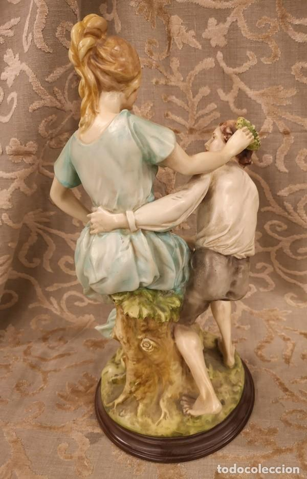 Arte: Figura, pareja escena campestre - Foto 7 - 201128385
