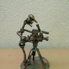 Arte: ANTIGUA ESCULTURA DE HIERRO RECICLADO. Lote 201156256