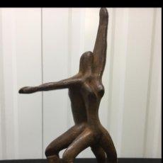 """Arte: EXCEPCIONAL ESCULTURA ARTE CONTEMPORÁNEO """"AMANTES"""". HIERRO FUNDIDO MACIZO. Lote 201236647"""