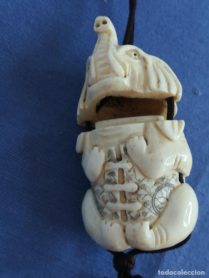 Arte: Elefante tallada de hueso, Siglo XX - Foto 6 - 201323831