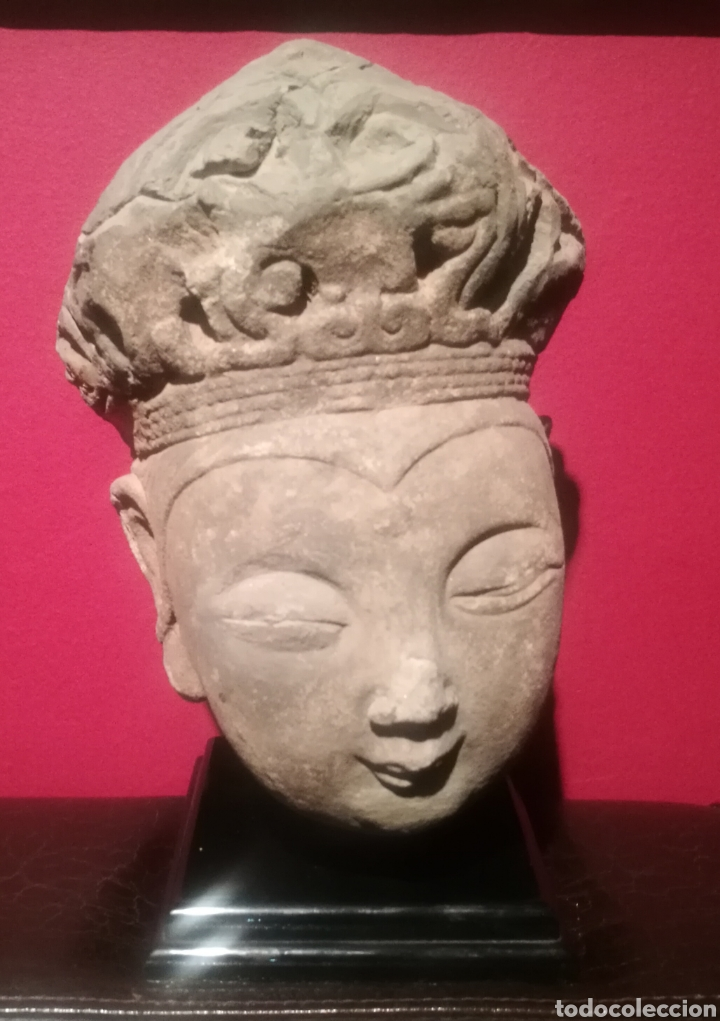 Arte: CABEZA DE BUDA DE LA DINASTÍA CHINA SONG (907-1276) - Foto 2 - 202651761