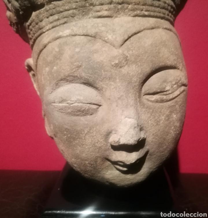 Arte: CABEZA DE BUDA DE LA DINASTÍA CHINA SONG (907-1276) - Foto 3 - 202651761