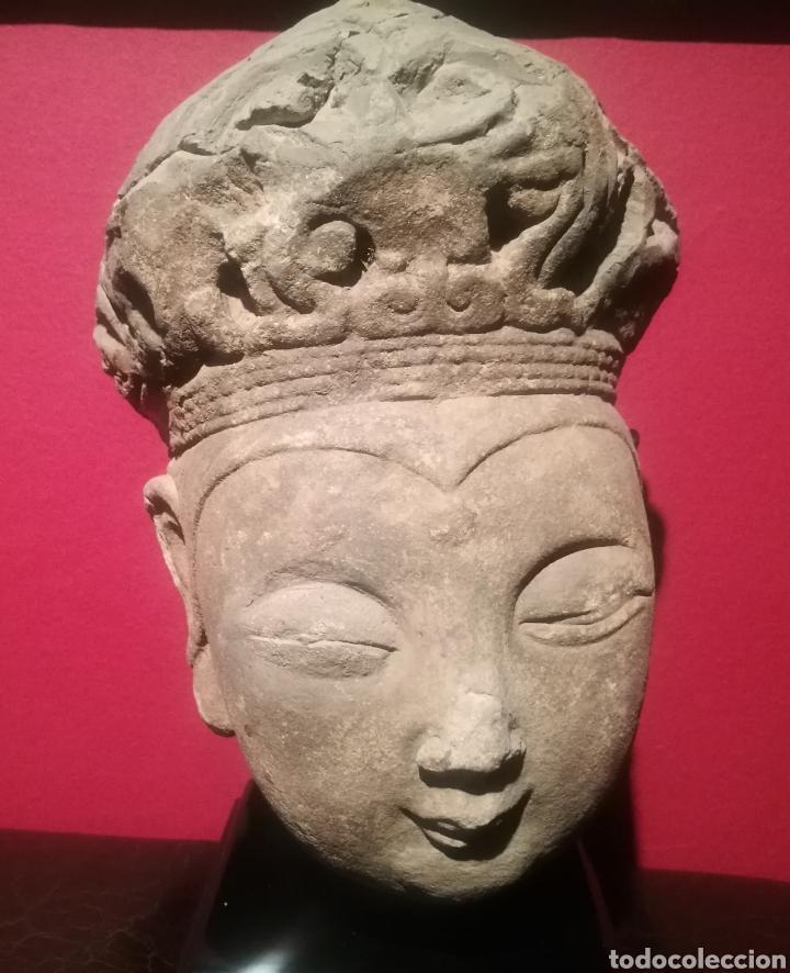 CABEZA DE BUDA DE LA DINASTÍA CHINA SONG (907-1276) (Arte - Escultura - Piedra)