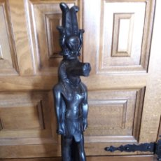 Arte: FIGURA EGIPCIA DE PIEDRA NEGRA, MIDE 33,5 CM. Lote 229847360