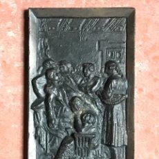 Arte: PLACA DE BRONCE REPRESENTANDO LA MUERTE DE DAOIZ GUERRA INDEPENDENCIA. Lote 203756327