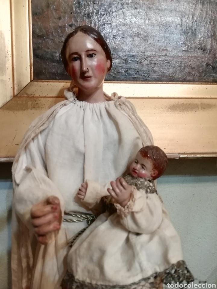 Arte: Virgen con niño - Foto 2 - 203768993