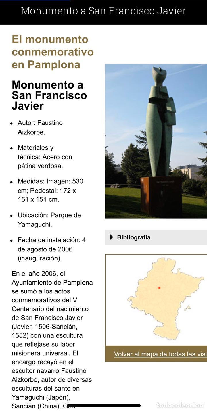 "Arte: Faustino Aizkorbe ( Pamplona, 1948) Escultura en bronce de ""Homenaje a San Francisco Javier"" - Foto 8 - 203898968"