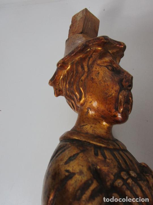Arte: Pareja de Tallas de Madera - Figuras Orientales - Estípites - Dorados en Pan de Oro - S. XIX - Foto 25 - 203971498