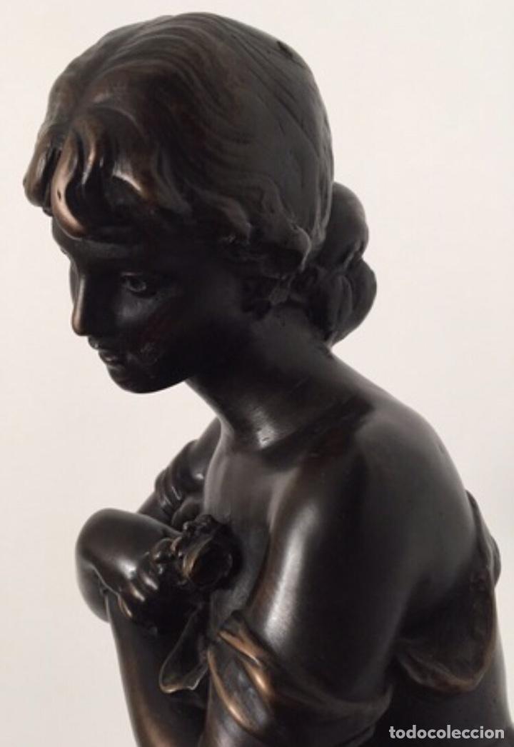 Arte: Escultura de Joven Clásica de Resina - Foto 2 - 204108861