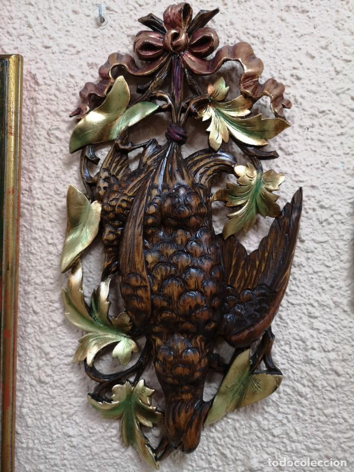 Arte: 2 escudos de caza madera de nogal - Foto 2 - 204176595