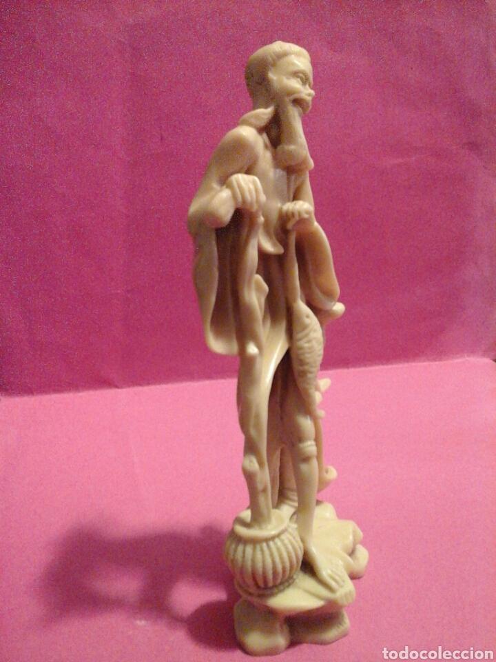 FIGURITA PESCADOR CHINO (Arte - Escultura - Resina)