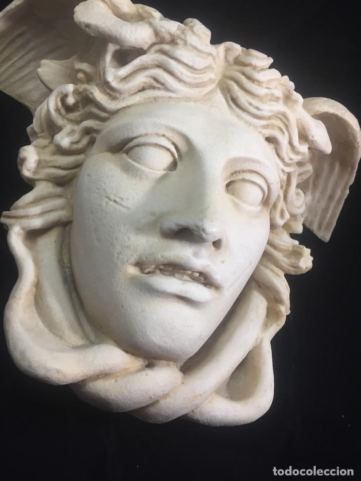 Arte: Escultura figura cabeza de medusa de Rodanini, 40 x 45 cms. en resina alta densidad 9 kgs. - Foto 2 - 205128313