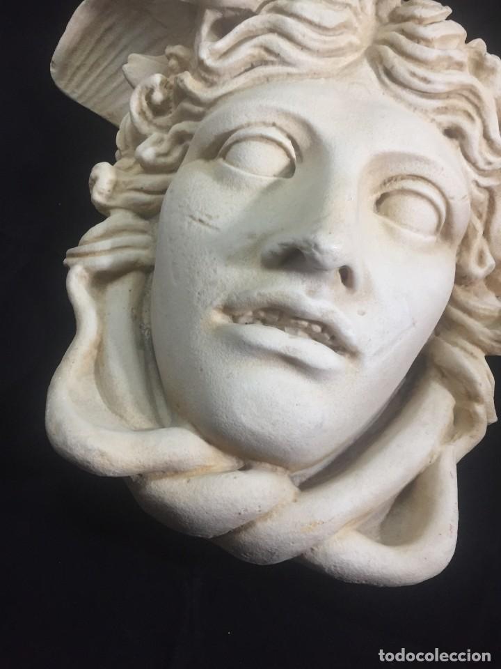 Arte: Escultura figura cabeza de medusa de Rodanini, 40 x 45 cms. en resina alta densidad 9 kgs. - Foto 4 - 205128313