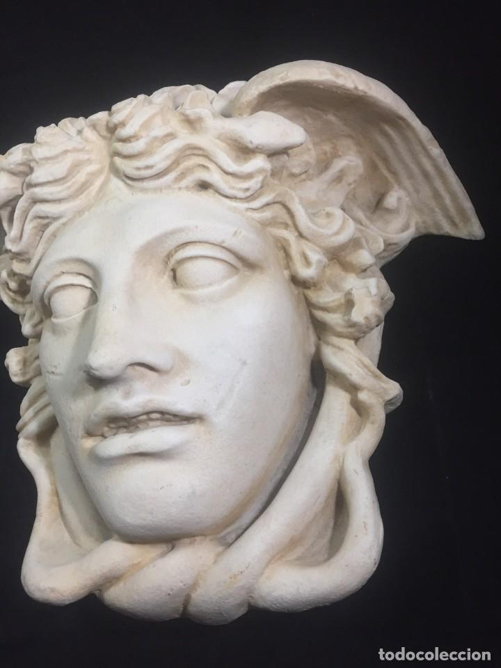 Arte: Escultura figura cabeza de medusa de Rodanini, 40 x 45 cms. en resina alta densidad 9 kgs. - Foto 5 - 205128313