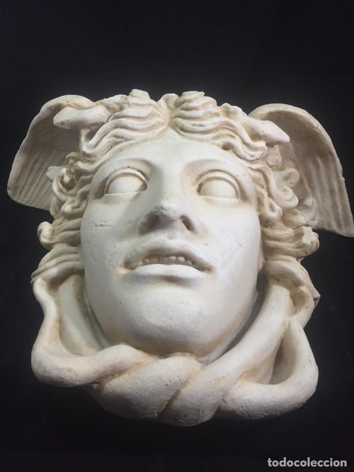 Arte: Escultura figura cabeza de medusa de Rodanini, 40 x 45 cms. en resina alta densidad 9 kgs. - Foto 6 - 205128313