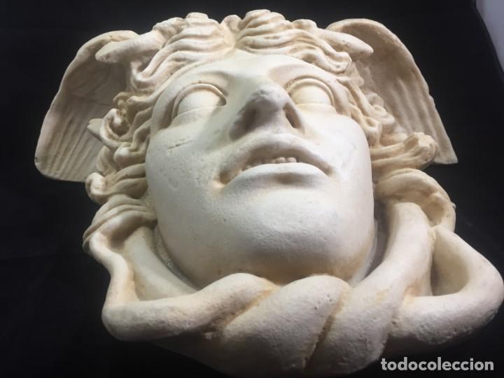Arte: Escultura figura cabeza de medusa de Rodanini, 40 x 45 cms. en resina alta densidad 9 kgs. - Foto 7 - 205128313