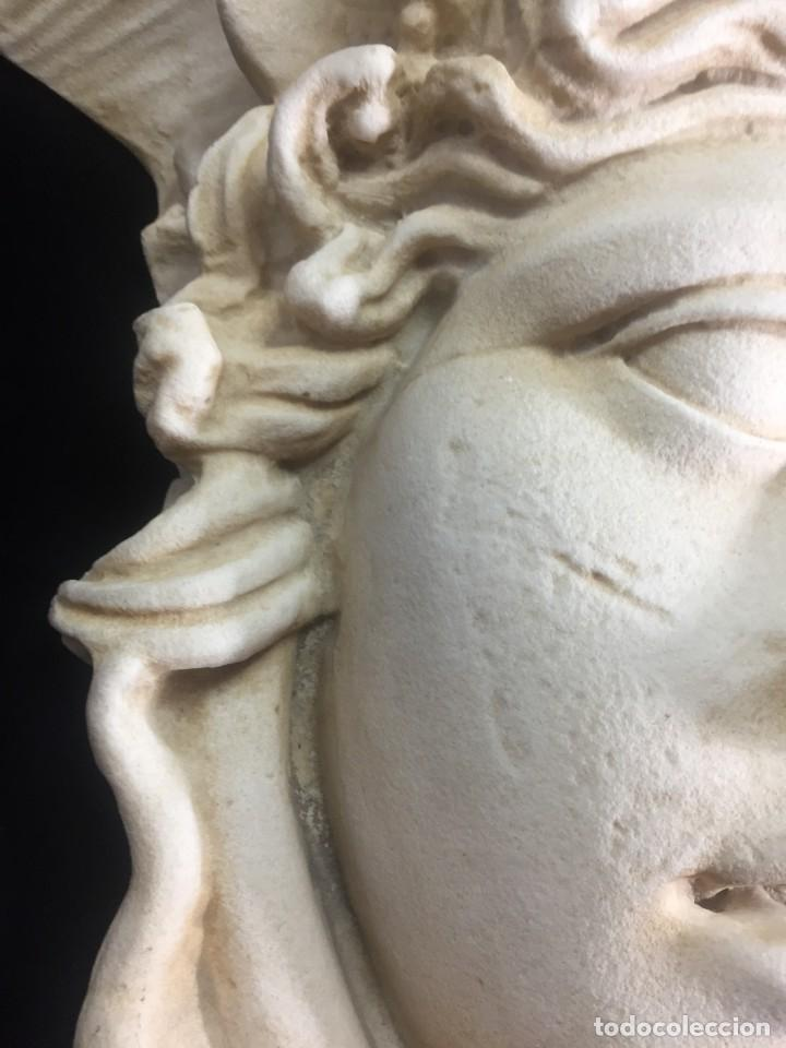 Arte: Escultura figura cabeza de medusa de Rodanini, 40 x 45 cms. en resina alta densidad 9 kgs. - Foto 14 - 205128313