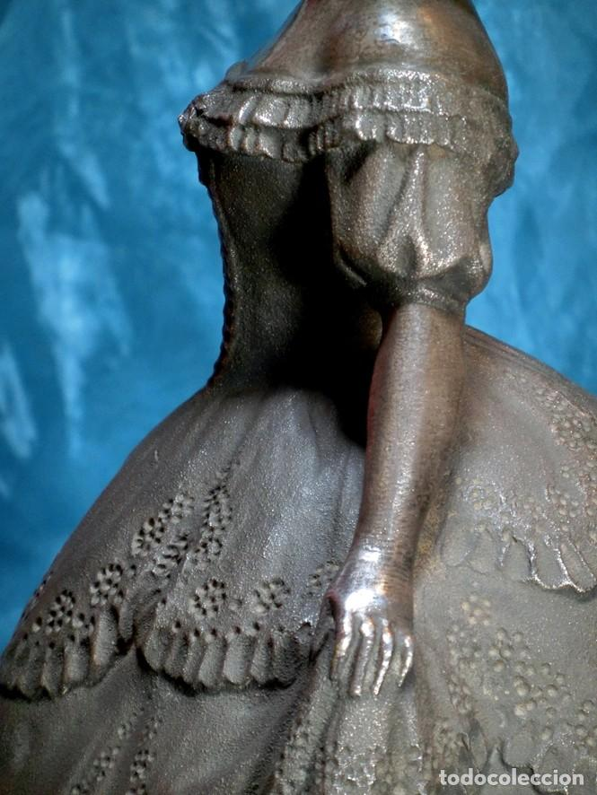 Arte: MAGISTRAL ESCULTURA DE TERRACOTA PATINADA EN PLATA. PPIOS SIGLO XX. FIRMADA G. ROVIRA. ARTE VALENCIA - Foto 11 - 205169030