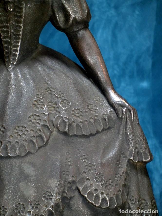 Arte: MAGISTRAL ESCULTURA DE TERRACOTA PATINADA EN PLATA. PPIOS SIGLO XX. FIRMADA G. ROVIRA. ARTE VALENCIA - Foto 13 - 205169030
