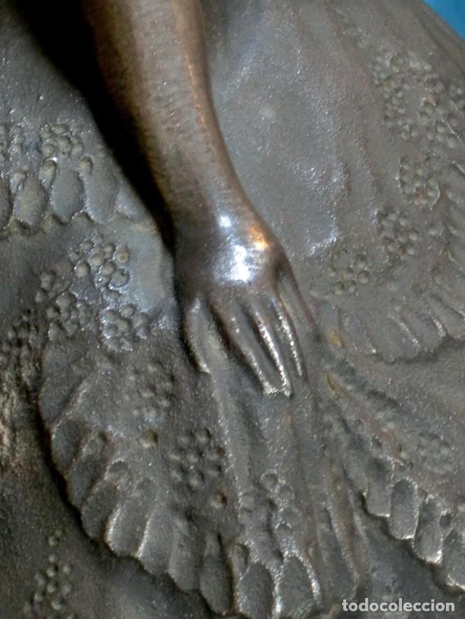 Arte: MAGISTRAL ESCULTURA DE TERRACOTA PATINADA EN PLATA. PPIOS SIGLO XX. FIRMADA G. ROVIRA. ARTE VALENCIA - Foto 17 - 205169030