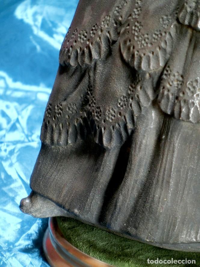 Arte: MAGISTRAL ESCULTURA DE TERRACOTA PATINADA EN PLATA. PPIOS SIGLO XX. FIRMADA G. ROVIRA. ARTE VALENCIA - Foto 20 - 205169030