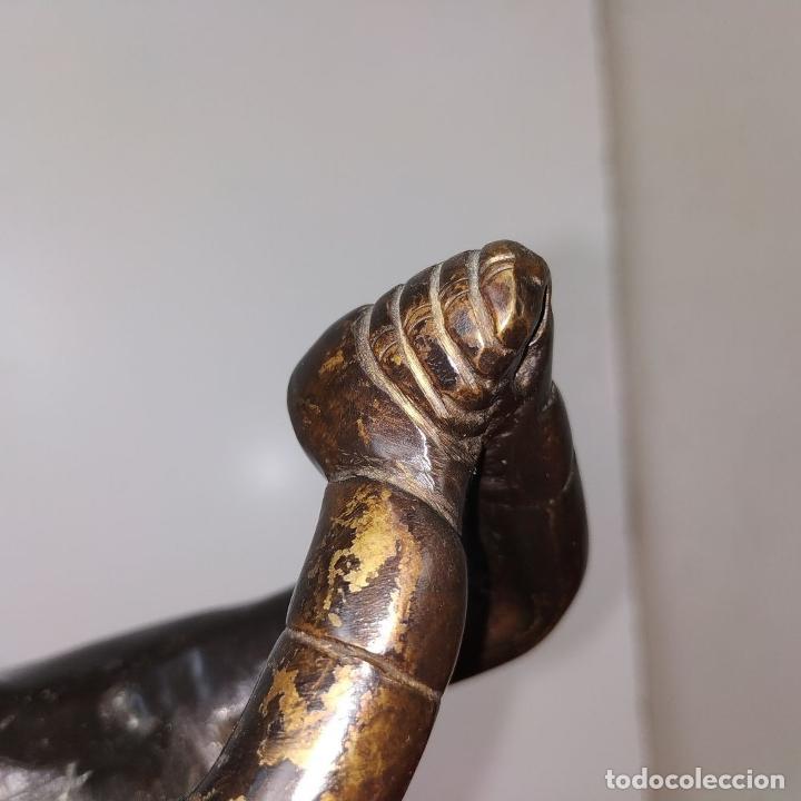 Arte: JUGADOR DE GOLF. METAL ACABADO EN COLOR BRONCE. ESPAÑA. SIGLO XX - Foto 9 - 205268966