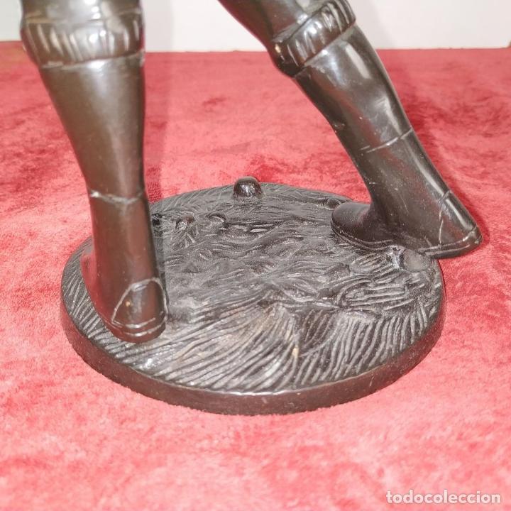 Arte: JUGADOR DE GOLF. METAL ACABADO EN COLOR BRONCE. ESPAÑA. SIGLO XX - Foto 10 - 205268966