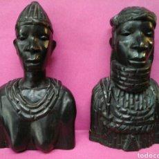 Arte: PAREJA DE AFRICANOS EN EBANO. Lote 205279266