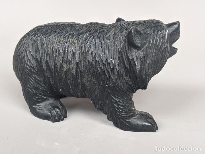 Arte: Oso Antiguo Selva Negra, Talla Madera, 1950, Austria. 16 cm - Foto 4 - 205343310