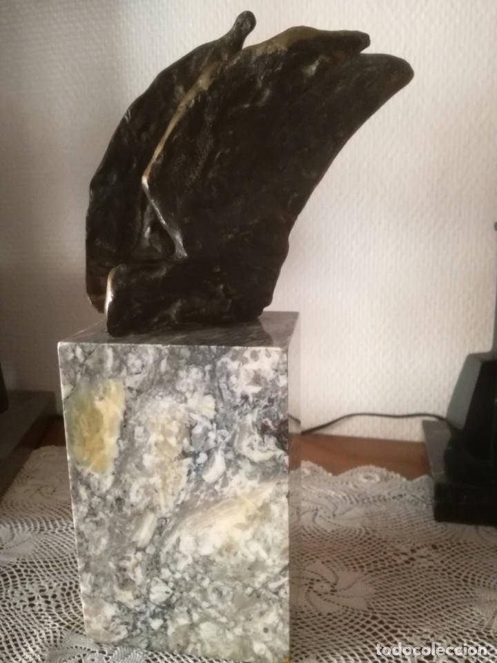 Arte: HORTENSIA NUÑEZ LADEVEZE ESCULTURA PALOMA ABSTRACTA BRONCE - Foto 6 - 205476211