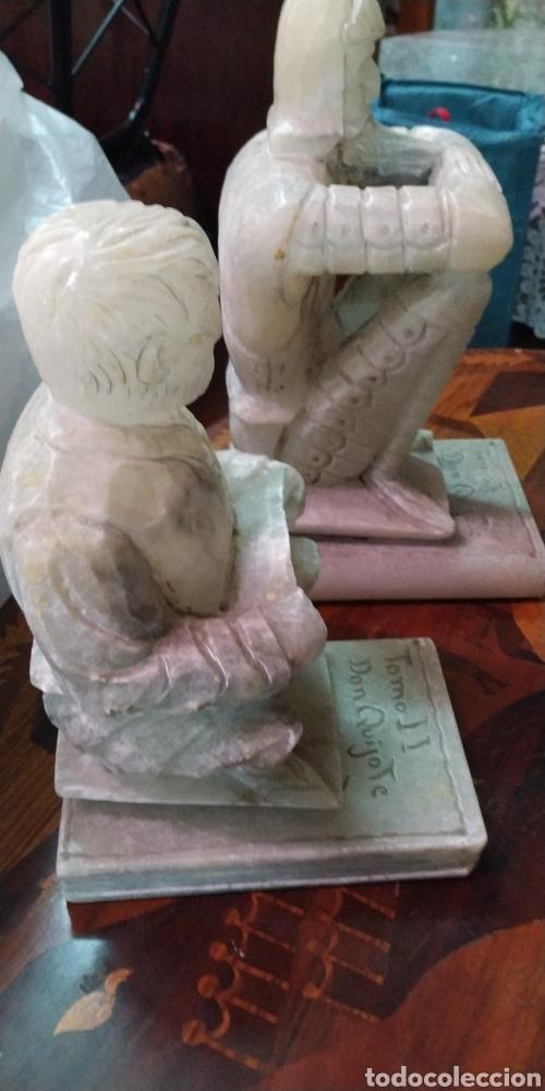 """Arte: Pareja de Sujetalibros """"El Quijote"""". Alabastro - Foto 5 - 205762985"""