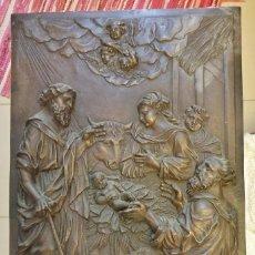 Arte: NATIVIDAD BAJORRELIEVE EN BRONCE. Lote 205817918