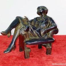 Arte: LA GARÇONNE. ESCULTURA. METAL ACABADO EN BRONCE. FRANCIA. ART DECO. CIRCA 1920. Lote 206879236